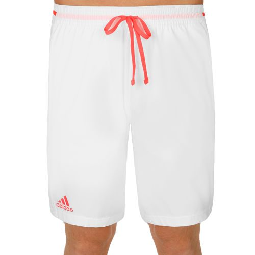 adidas Multifaceted Club Bermuda Shorts Men - White, Neon Red