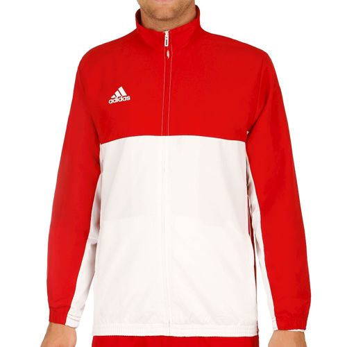 adidas T16 Team Jacket Training Jacket Men - Neon Red, White