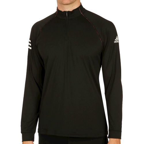 adidas Club Half-Zip Midlayer Long Sleeve Men - Black, White