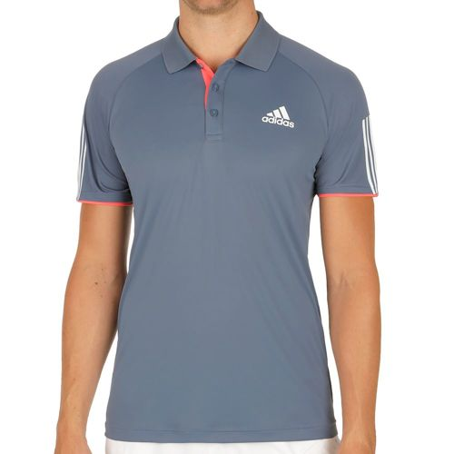 adidas Club Polo Men - Dark Blue, Neon Red