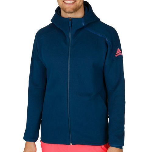 adidas Zero Negativ Energy Hoody Men - Dark Blue, Neon Red