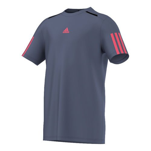 adidas Barricade T-Shirt Boys - Dark Blue, Neon Red