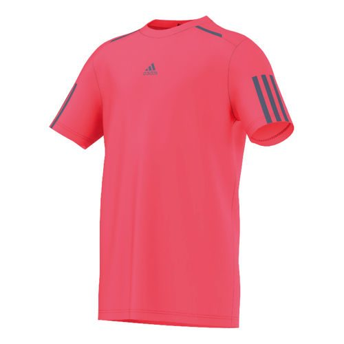 adidas Barricade T-Shirt Boys - Neon Red, Dark Blue