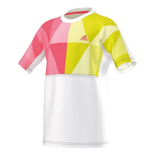 adidas Multifaceted Pro T-Shirt Boys - White, Neon Red