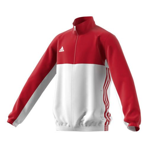 adidas T16 Team Jacket Training Jacket Kids - Neon Red, White