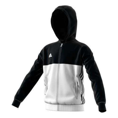 adidas T16 Hoody Training Jacket Kids - Black, White