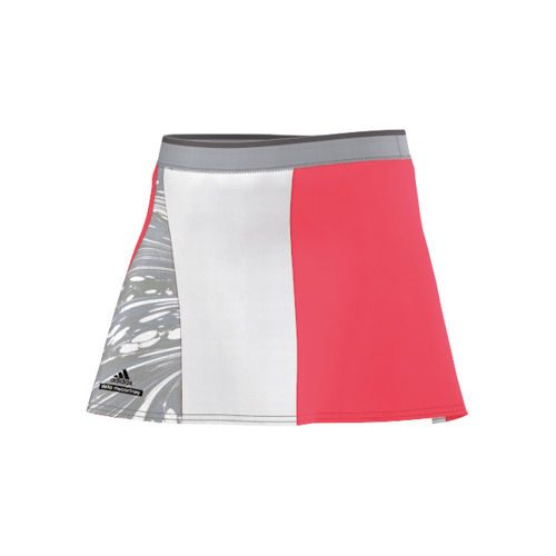 adidas By Stella McCartney Barricade Skort Skirt Girls - Neon Red, Grey