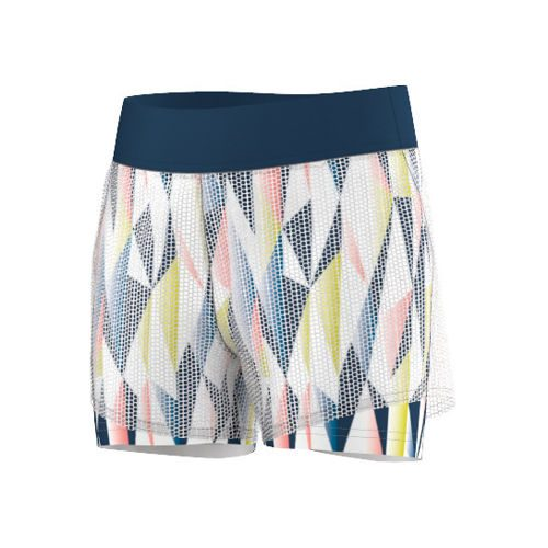 adidas Multifaceted Pro Shorts Girls - White, Dark Blue