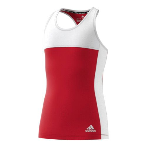 adidas Climacool T16 Sleeveless Tank Top Girls - Neon Red, White