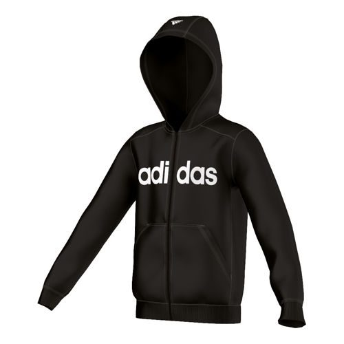 adidas Essentials Linear Full Zip Hoody Training Jacket Boys - Black, White