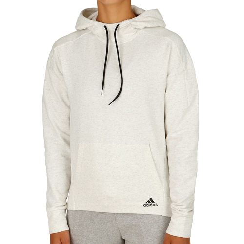 adidas Cotton Fleece Hoodie Hoody Women - White