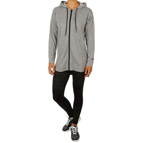 adidas Tight And Hoodie Suit Tracksuit Women - Grey, Black
