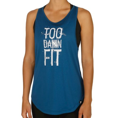 adidas Too Fit Tank Top Women - Dark Blue