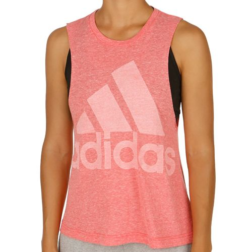 adidas Basics Logo Women - Red, White