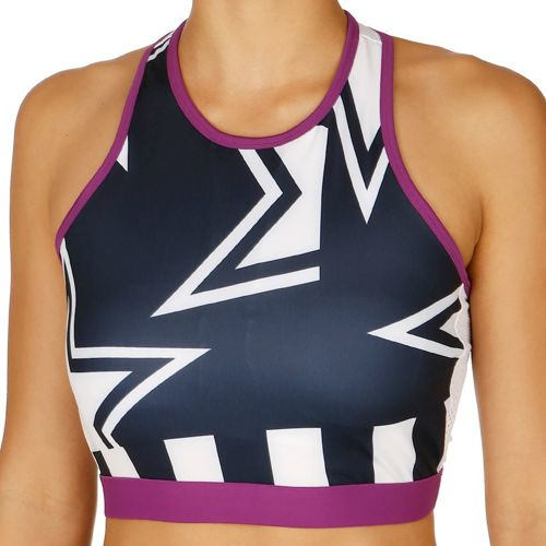 adidas Crop Sports Bras Women - Dark Blue, White