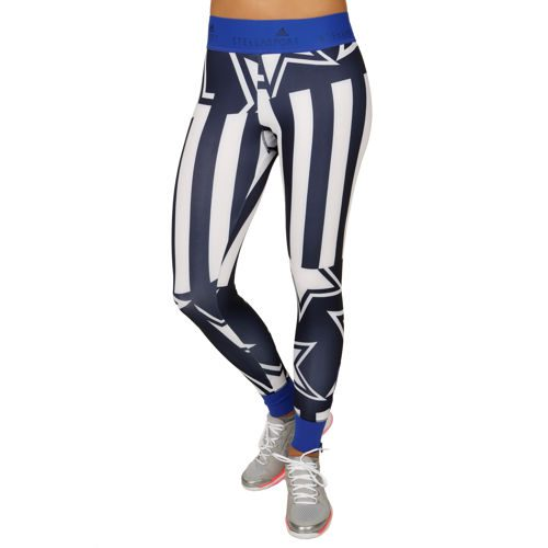 adidas Stellsport Print Long Tight Training Pants Women - White, Dark Blue