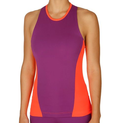 adidas Easy Tank Top Women - Violet, Neon Red