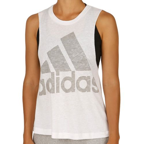 adidas Logo Sleeveless Top Women - White, Grey