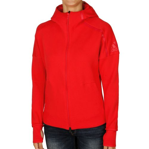 adidas ZNE Zip Hoodie Women - Red