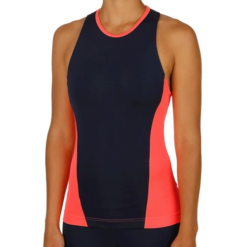 adidas Stellasport Easy Workout Tank Top Women - Dark Blue, Neon Red