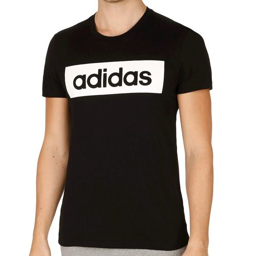 adidas Linear Essentials T-Shirt Men - Black, White