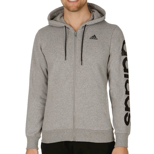 adidas Linear Essentials Full Zip Training Jacket Men - Grey, Black