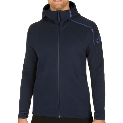 adidas Z.N.E. Full-Zip Hoody Knit Training Jacket Men - Dark Blue