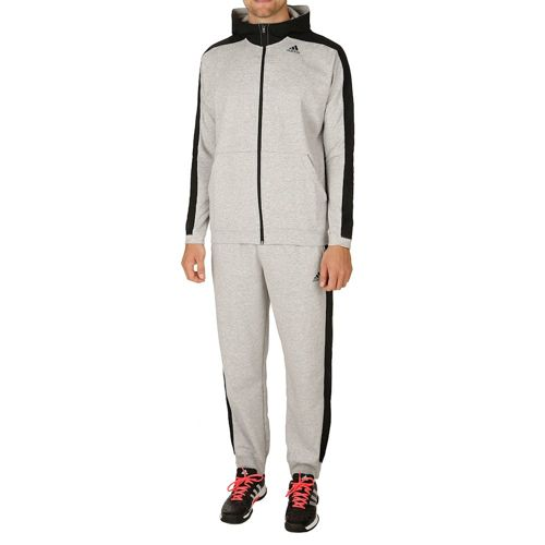 adidas Hooded Jogger Tracksuit Men - Lightgrey