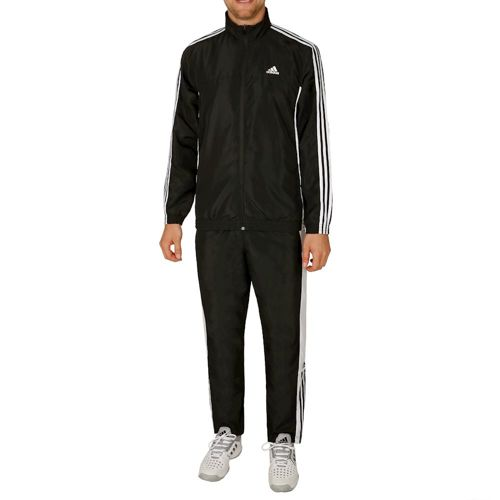 adidas Basic 3 Stripes Tracksuit Men - Black, White