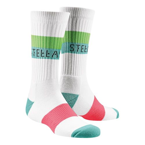 adidas Stellasport Crews Sports Socks - White, Red