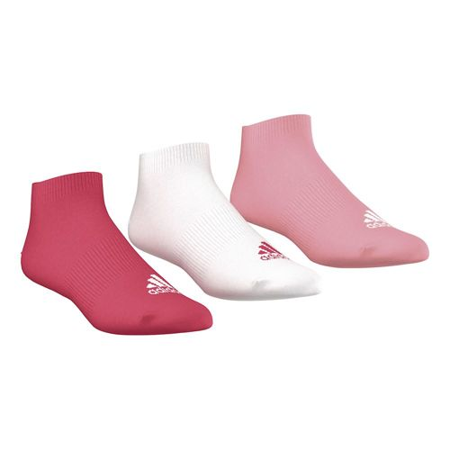 adidas Performance No-Show Sports Socks 3 Pack - Pink, White