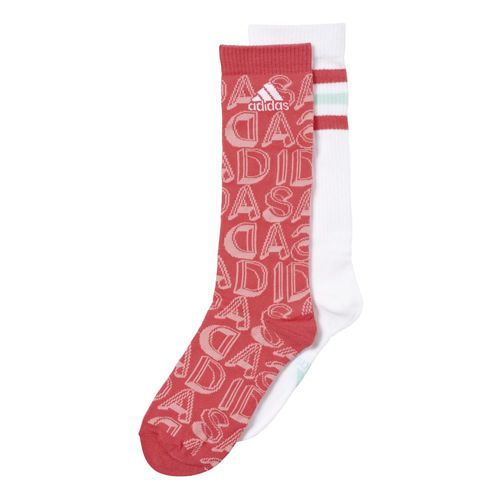 adidas Graphic Sports Socks 2 Pack Girls - Red, White