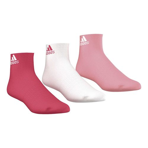 adidas Performance Ankle Tennis Socks 3 Pack - Pink, White