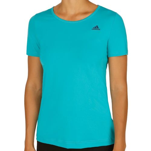 adidas Basics Solid T-Shirt Women - Neon Green, Dark Blue