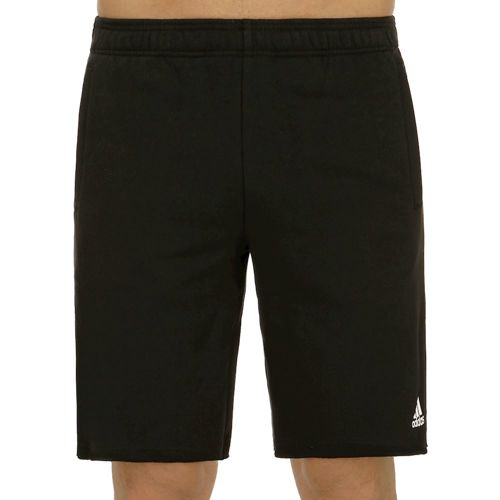 adidas Essentials Raw Hem French Terry Shorts Men - Black, White