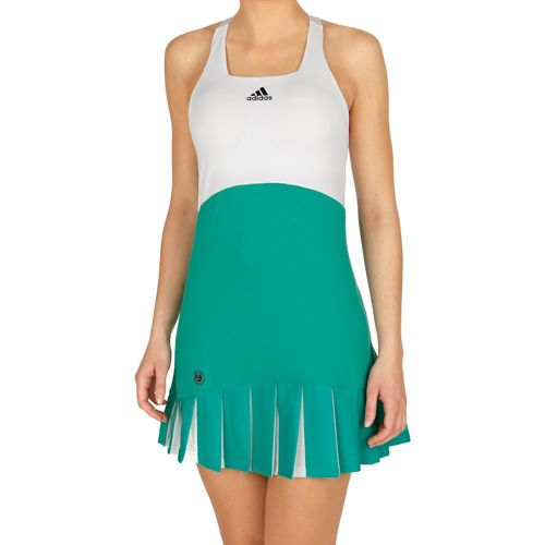 adidas Roland Garros Dress Women - Green, White