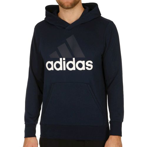 adidas Linear French Terry Hoody Men - Dark Blue, White