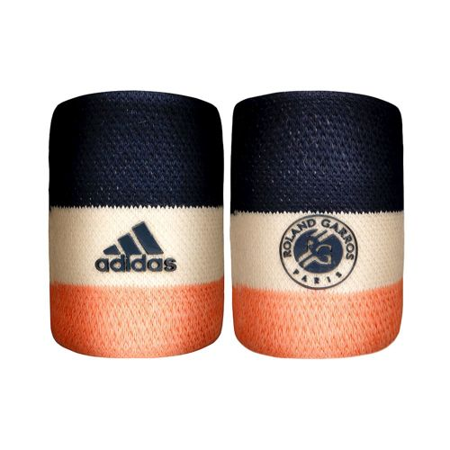 adidas Roland Garros Wristband 2 Pack - Dark Blue, White