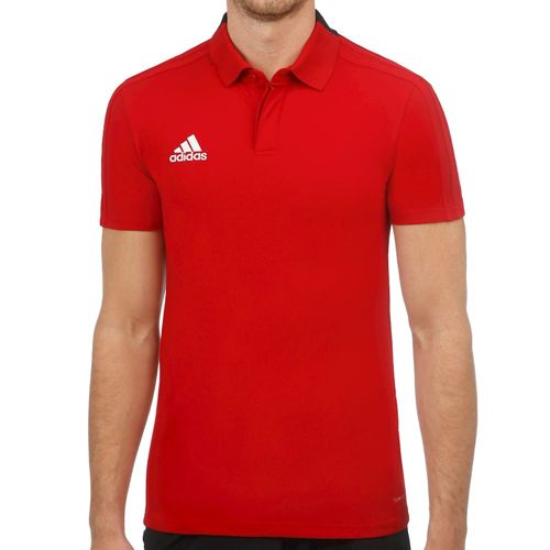 adidas Condivo 18 Cotton Polo Men - Red, Black