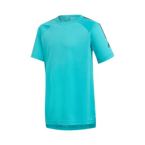 adidas Training Cool T-Shirt Boys - Turquoise, Black
