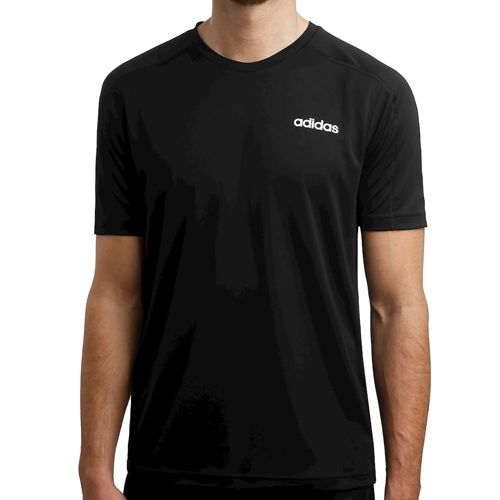 adidas D2M T-Shirt Men - Black, White