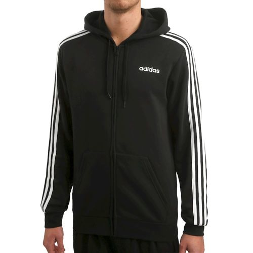 adidas Essentials 3 Stripes Full-Zip Fleece Training Jacket Men - Black, White