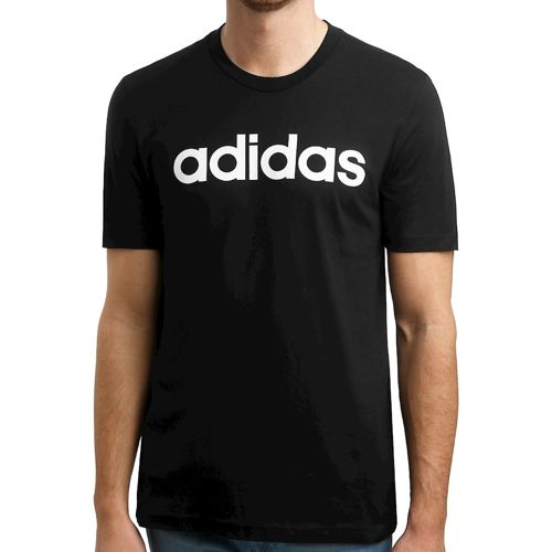 adidas Essentials Linear T-Shirt Men - Black, White