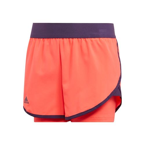 adidas Club Shorts Girls - Coral, Dark Blue