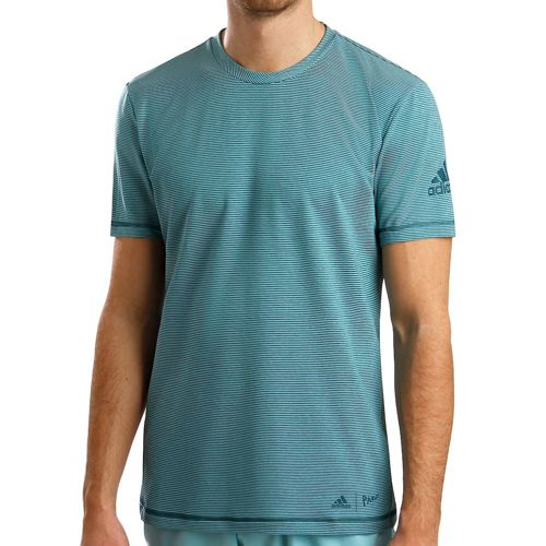 adidas Parley Striped T-Shirt Men - Mint, Petrol