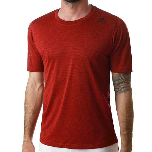 adidas Freelift Tech Fitted Climacool T-Shirt Men - Dark Red, Black