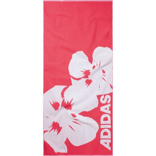 adidas Beach Extra Towel Large - Neon Red, White
