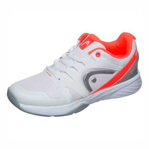 HEAD Nitro Team Indoor Carpet Shoe Women - White, Neon Orange