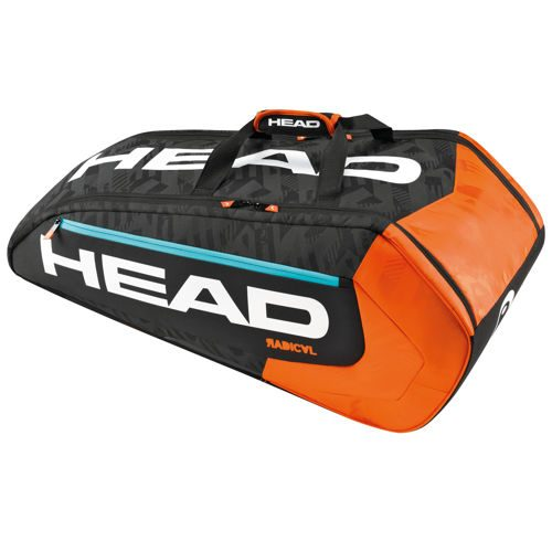 HEAD Radical 9R Supercombi Racket Bag - Black, Orange