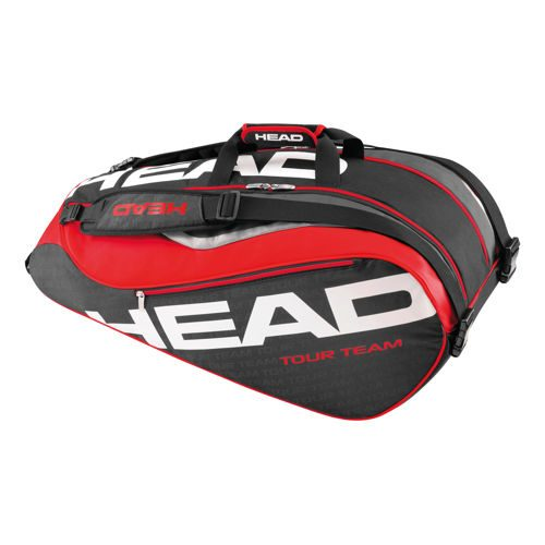 HEAD Tour Team 9R Supercombi Racket Bag - Black, Red
